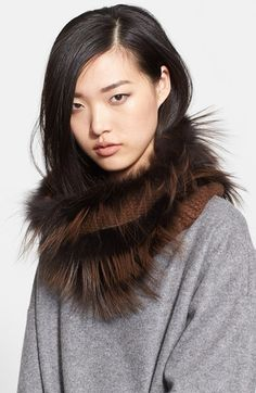 Fabiana+Filippi+Genuine+Fox+Fur+&+Cashmere+Snood+available+at+#Nordstrom