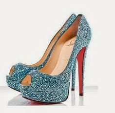 Craystalled hight heel shoes
