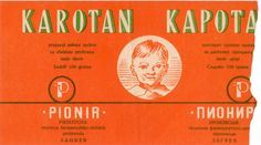 Label design for pharmaceutical company Pionir Zagreb, Ozeha, early 50's, unknown author, partially damaged