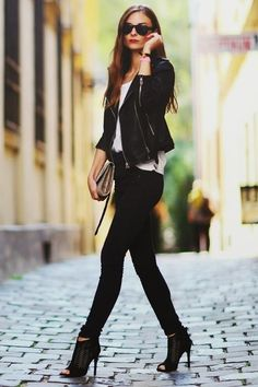 Leather+Jacket+|+Women's+Look