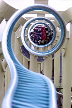 This Roller Coaster looks really scary it has a lot of loops that's for sure.
