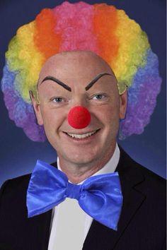 Political 'clowns' - Australian MP ( Conservative ) Christopher Pyne - quite a clever clown !
