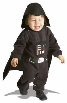 #11609 Luke, I am your father! Join the Dark Side this Halloween as Darth Vader. The Darth Vader Costume includes a black romper with detachable cape. The character headpiece completes the Darth Vader