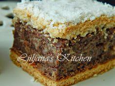 LJILJANA'S KITCHEN: PITA OD ROGAČA I JABUKA Healthy Dessert Recipes, Fruit Recipes, Sweet Recipes, Baking Recipes, Cake Recipes, Desserts, Apple Rose Pastry, Torte Cake, Pie Cake