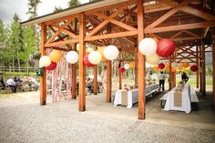 Possible table arrangement for a wedding reception or party at Lilburn City Park pavilion.