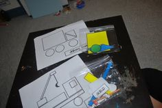 shapes activity for transportation theme