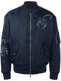 DIESEL embroidered bomber jacket. #diesel #cloth #jacket