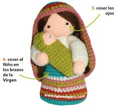 caritas de santa tejidas a crochet - Pesquisa Google