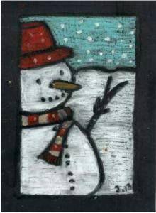 kaartenbak teken/knutselopdrachten winter - leermiddelenbak