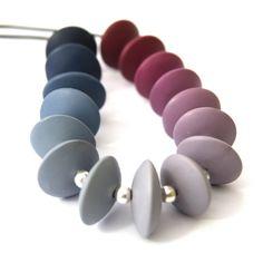 Dark Blue to Burgundy via Grey Ombre by ClareBashamDesigns on Etsy, £38.00