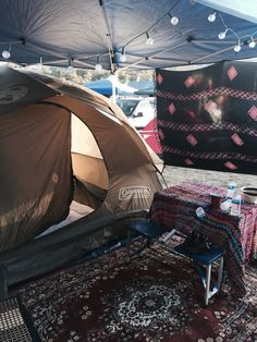 Glamping at SNWMF. Festival campsite. More