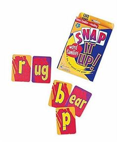 Learning Resources Snap It Up! Word Families & Reading Phonics Card Game 【知育玩具 英単語ゲーム】くっつけて学んで! 英語フォニックス&リーディーングカードゲーム 正規品