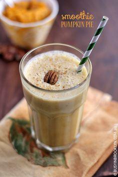 Healthy Pumpkin Pie Smoothie Milkshake Drink