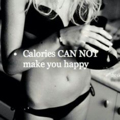 I STRONGLY disagree. Chocolate cake has calories. And chocolate cake makes me happy. Therefore, calories make me happy.