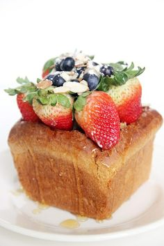 Japanese Honey Toast by atasteofkoko: A simple treat which depends on the bread. Try bread which is a little sweet, like Hawaiian bread. Great with the small loaves from Chinatown!