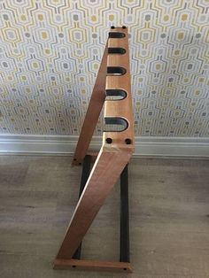 Bespoke, made to order, hardwood guitar stand. Available in 3 different sizes to hold either 4, 5 or 6 electric, bass or acoustic guitars. All contact points cushioned to protect your guitars. Non slip base. All wood can be oiled or waxed to enhance the natural qualities of #guitarstand