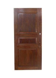 Vintage 4 Pane Quarter Sawn Oak Office Privacy Door 82.875 x 36.625 Arched Doors, Oak Doors, Panel Doors, Entry Doors, Antique Interior, Antique Doors, Pocket Doors, Closet Doors, Dark Wood