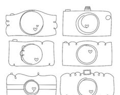 Whimsy Doodles Cameras Digital Stamps Clipart Clip Art Illustrations - instant download - limited commercial use ok