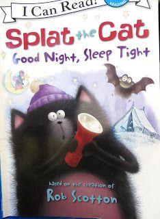 Book, Splat the Cat Good Night, Sleep Tight by Rob Scotton (night sky observations)