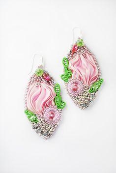 Серьги шибори - shibori earrings - Весна