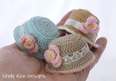 Tiny Dresses From My Imaginary Rose Garden – Cindy Rice Designs Diy Crochet Toys, Crochet Doll Clothes, Knitted Dolls, Doll Clothes Patterns, Crochet Dolls, Doll Patterns, Crochet Patterns, Crochet Hats, Crochet For Beginners Blanket