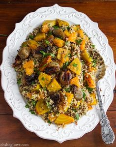 Golden Beet Salad with Shallots, Parsley, and Orange Miso Dressing by ohsheglows #Salad #Beet #Orange
