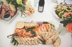 Side of Salmon Platter, Ham & Salad auckland-new-zealand-wedding-lace-boho-dress44