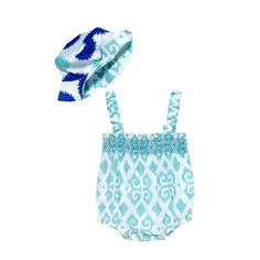 Ikat Bodysuit & Hat Set: This light-weight cotton one-piece is perfect for the warm Hawaii weather.