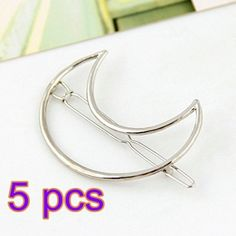 ANKKO 5pcs Fashion Hollow Moon Metal Barrettes Hair Pins Hair Clip Silver *** To view further for this item, visit the image link.(This is an Amazon affiliate link)