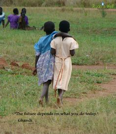 """""""The future depends on what you do today."""" - Ghandi"""
