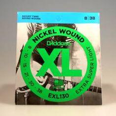 Cuerdas D'Addario juego EXL130 Extra Super Light 08-38