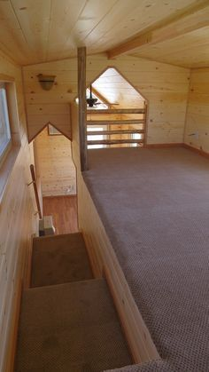I like the loft in this one. I don't think I'd have to crawl all over the place to make the bed! spacious tiny house on wheels by richs portable cabins 003 600x1067 Spacious Tiny House Living in Richs Portable Cabins