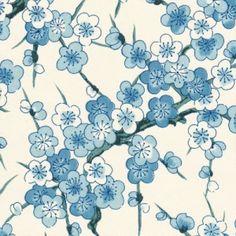 Japanese Paper – Big Flowers – Cream Blue – by bcavarec Art Floral Japonais, Art Japonais, Motifs Textiles, Textile Patterns, Japanese Patterns, Japanese Prints, Motif Design, Pattern Design, Papel Scrapbook