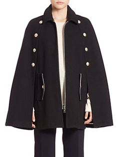 See by Chloé - Solid Wool Blend Cape