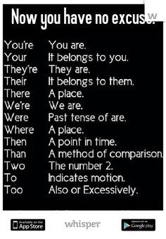 Now you have no excuse.          Love, A Grammar Nazi