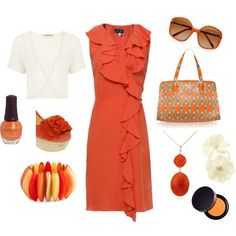 tangerine outfit + accessories