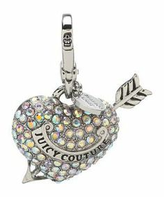 Juicy Couture LTD Ed Pave Heart and Arrow Charm #accessories  #jewelry  #key chains  https://www.heeyy.com/suggests/juicy-couture-ltd-ed-pave-heart-and-arrow-charm-silver/