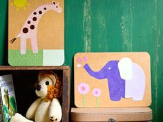 Kids room wall art templates