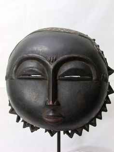 African Mask Beautiful Baule Moon Mask Collectible African Art