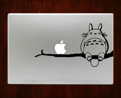 """My neighbor totoro on tree branch Decal Sticker Vinyl For Macbook Pro/Air 13"""" Inch 15"""" Inch 17"""" Inch Decals Laptop Cover"""