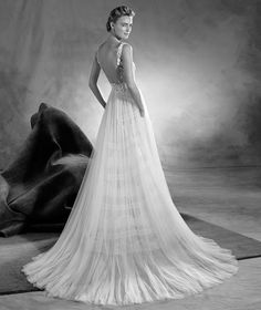 Eitana Ovias Wedding Dress With A Bateau Neckline