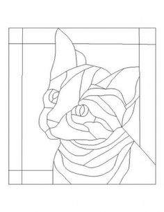 zentangle this Free Printable Stained Glass Pattern Stained Glass Patterns Free, Stained Glass Quilt, Faux Stained Glass, Stained Glass Designs, Stained Glass Projects, Free Mosaic Patterns, Cat Quilt, Applique Patterns, Applique Ideas