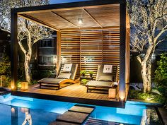 Modern Gazebo, Urban Courtyards, Modern Pergola Designs, Outdoor Living Design, Rooftop Design, Garden Sitting Areas, Modern Landscaping, Pool Houses