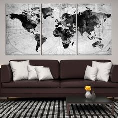 30472 - Large Wall Art World Map Canvas Print - Extra Large World Map Wall Art Canvas Print - World Map Wall Art Poster Print World Map Canvas, World Map Wall Art, Art World, Large Canvas Wall Art, Canvas Prints, Beach Landscape, Gallery, Outdoor Decor, Home Decor