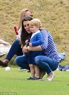 George, who turns two next month, looked every inch the fledgling prince in his smart atti...