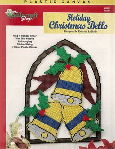Holiday Christmas Bells Plastic Canvas by needlecraftsupershop, $4.99