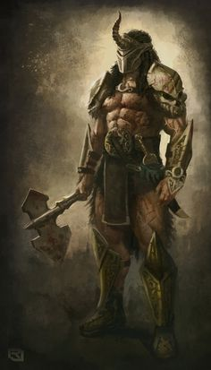 Barbarian concept. by Rob-Joseph armor clothes clothing fashion player character npc   Create your own roleplaying game material w/ RPG Bard: www.rpgbard.com   Writing inspiration for Dungeons and Dragons DND D&D Pathfinder PFRPG Warhammer 40k Star Wars Shadowrun Call of Cthulhu Lord of the Rings LoTR + d20 fantasy science fiction scifi horror design   Not Trusty Sword art: click artwork for source