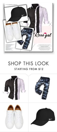 """""""Men Fashion Look - Rosegal.com"""" by kokicela ❤ liked on Polyvore featuring Marc Jacobs, NIKE, men's fashion and menswear"""