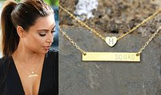 Gold Bar Necklace Gold Heart Combo Layered,Engraved Necklace,Personalized Necklace,Custom Name Necklace,Nameplate necklace,Initial necklace by StatesStudios on Etsy https://www.etsy.com/listing/472364561/gold-bar-necklace-gold-heart-combo