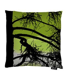 Vallila Interior AW14, Kelohonka cushion cover 43x43cm dark lime by Tanja Orsjoki